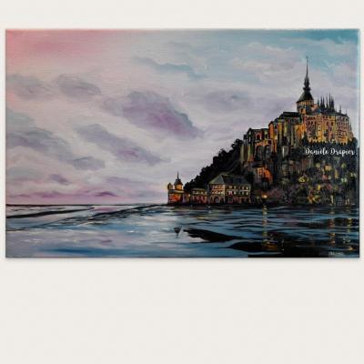 Mont St Michel, 41x27cm, huile sur toile de lin