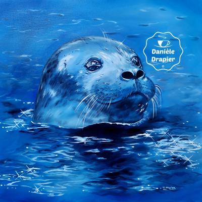 """Portrait animalier, """"Phoque de la baie d'Authie"""""""