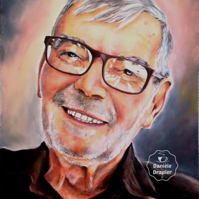 Portrait peint à l'huile sur toile 33x41cm