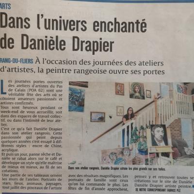 Artiste peintre Danièle Drapier article de presse